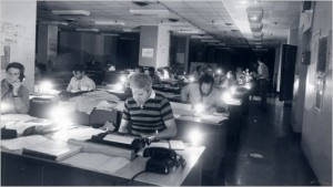 NY Times Newsroom During the 77 Blackout