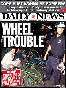 Daily News Critical Mass Front Page