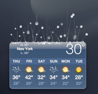 Sleet Weather Widget