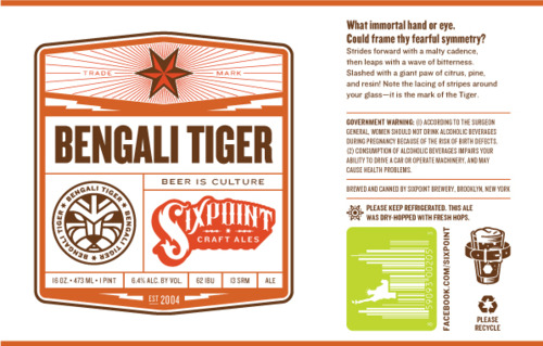 Sixpoint Bengali Tiger Can Label