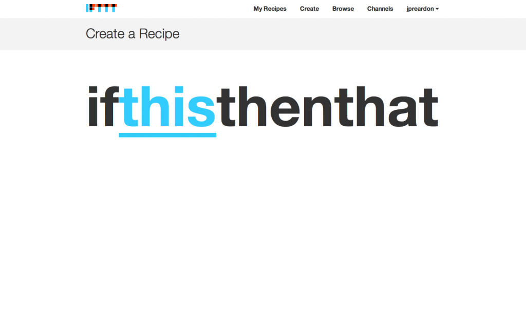 IFTTT Recipe Step 0