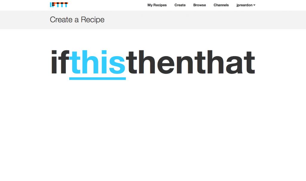 IFTTT Recipe Step 0