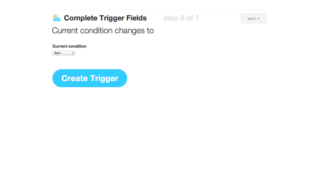 IFTTT Recipe Step 3
