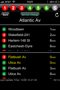 MTA Traintime Screenshot