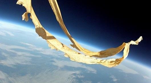 Space Glider Balloon Burst