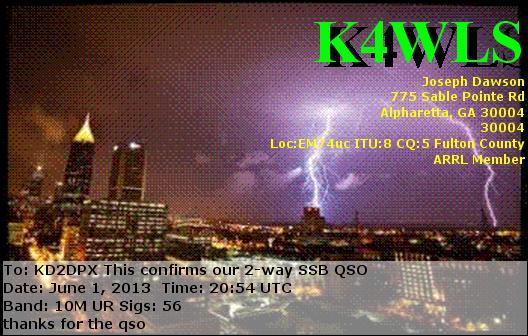 K4WLS QSL