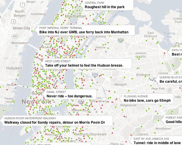 NYT Bike Map Screenshot