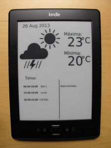 Kindle Weather Wallpaper