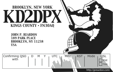 KD2DPX QSL card Image
