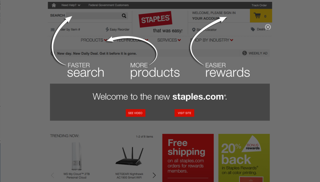 Staples Lightbox Interstitial