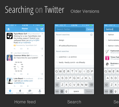Twitter Search Screens
