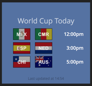 World Cup Widget