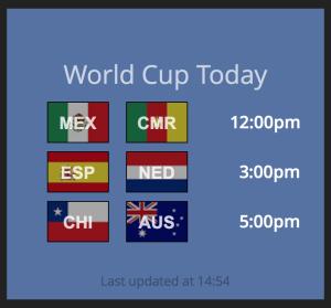World Cup Widget