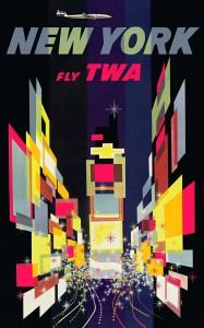 TWA New York Poster