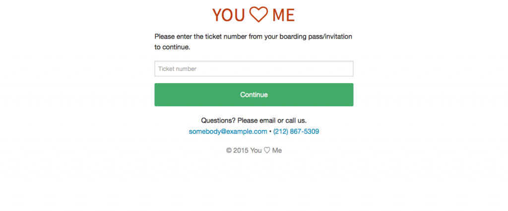 Screenshot of RSVP Site Login