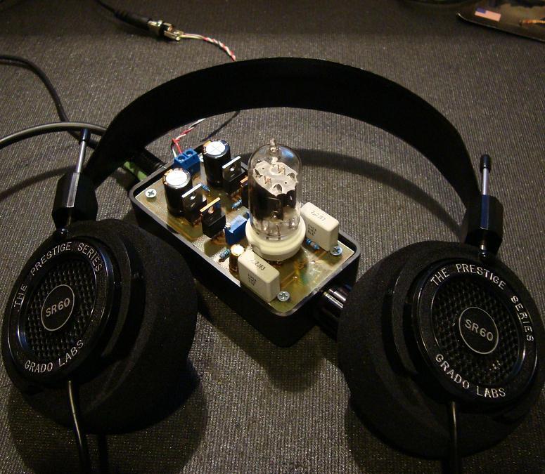 12au7 tube irf510 mosfet headphone amplifier