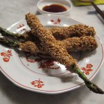 Sesame-Coated Asparagus with Pork Belly