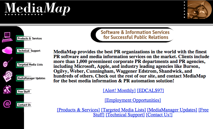 Mediamap Circa 1996 Screenshot