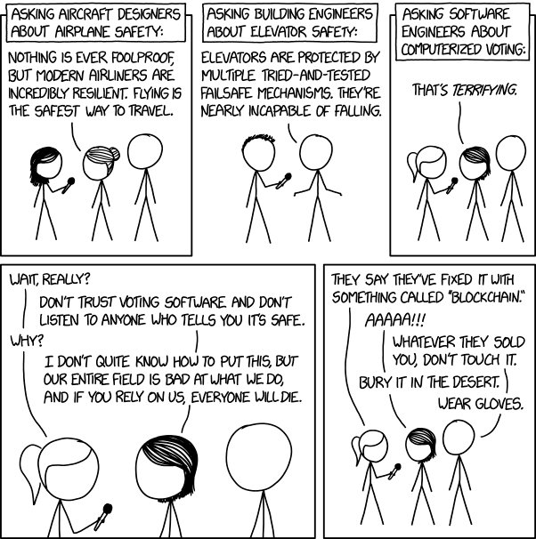 xkcd Voting Software comic