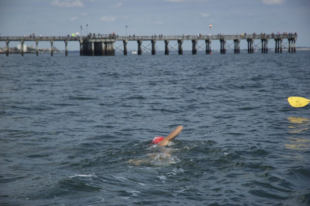 swimmer at Coney Island