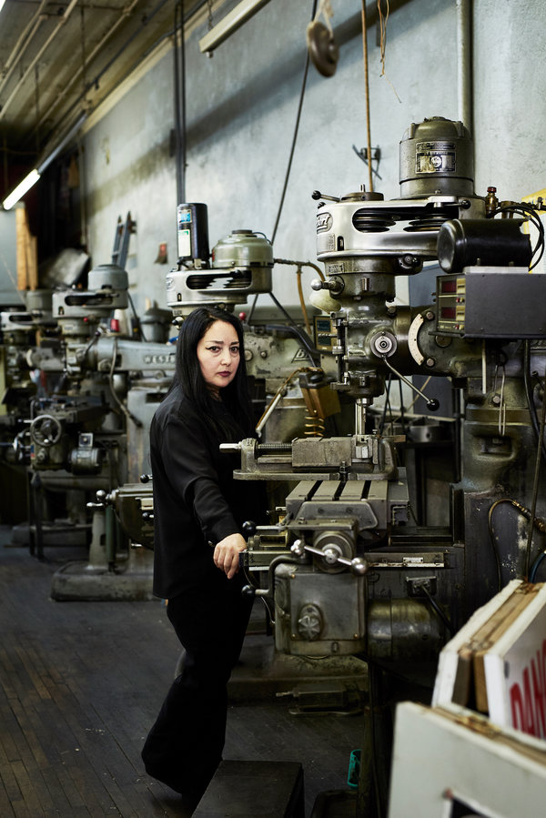 Flavia Galuppo at her father's former business on Bond Street, Etna Tool & Die.