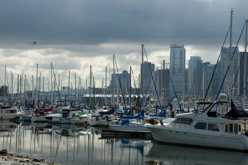 Marina and Vancouver Skyline
